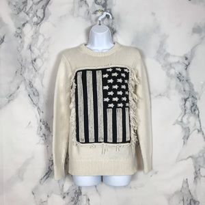 Coach New York American Flag Intarsia Sweater XXS